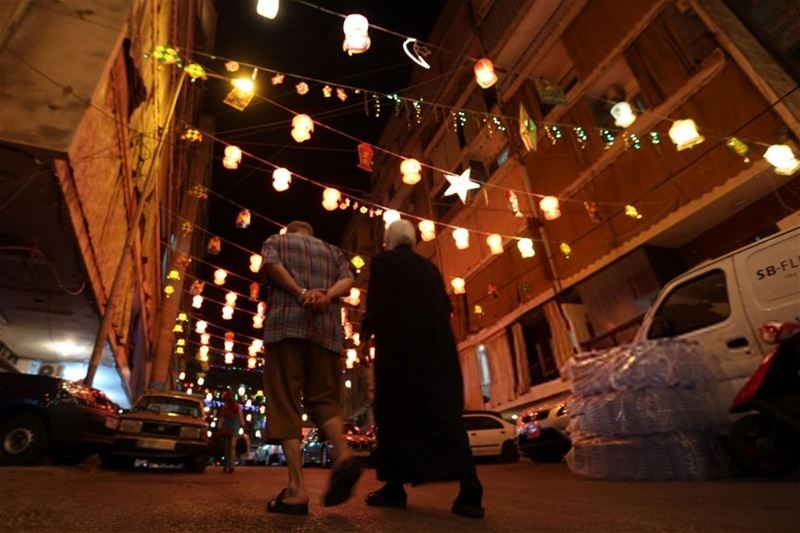 Illuminated decorations and buildings are seen during Ramadan in Beirut, Lebanon. (Ratib Al Safadi / Anadolu Agency)