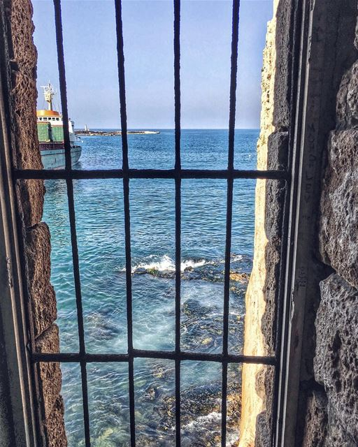 Rattle the bars, boundaries of who you are, beyond the scars, that burden... (Sidon Sea Castle)