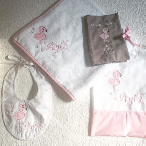 Baby PINK 💖 Write it on fabric by nid d'abeille  baby  linenset ...