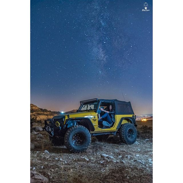 Every Offroad trip has its own adventure! But an Offroad Night with @evalic (Falougha, Mont-Liban, Lebanon)
