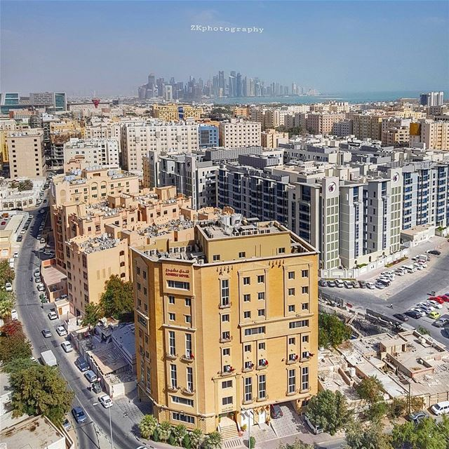 A general view of Doha this morning 🇶🇦 * amazing_qatar  qatarism ... (Doha)