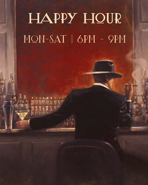 Happy Hour at Em's. 50% off on all Alcoholic Beverages. Monday to Saturday... (Em's cuisine)