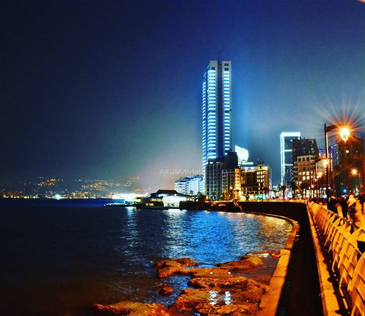 Beirut sea side 📷 Nikon  NikonD5600  D5600  photography ... (Beirut, Lebanon)