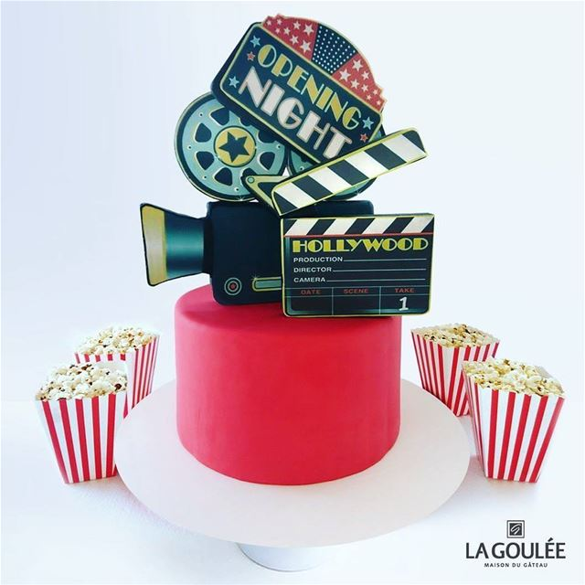 @la.goulee -  We are rolling! Celebrate with a Movie Themed Birthday Cake... (La Goulee)