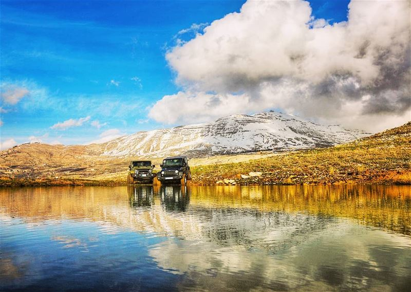 Sometimes all you need is a great friend and a jeep  lebanon  mountains ...