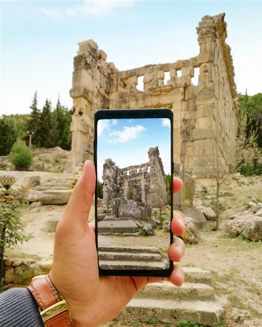 Always have the temple in your sights! ruins  temple... (Niha, Béqaa, Lebanon)