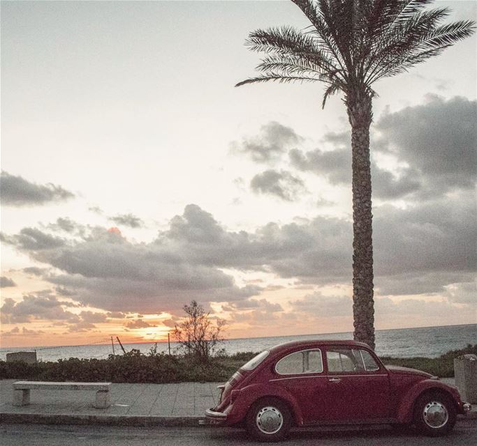 The cars we drive say a lot about us.😉sunsettime carlovers instacars... (Tyre, Lebanon)