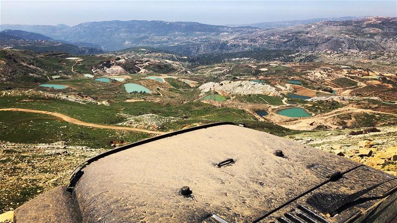 This  view is worth all the  mud on the  hood ... livelovelebanon...