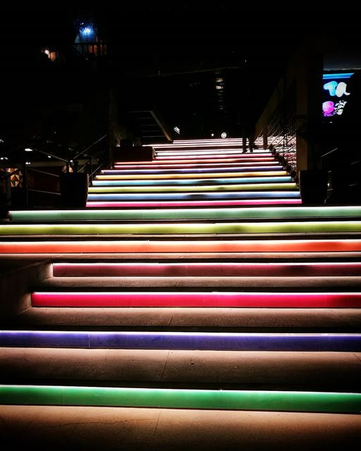 colors and  shadows ❤💙💚💛💜 stair  colorful  thevillage ... (The Village Dbayeh)