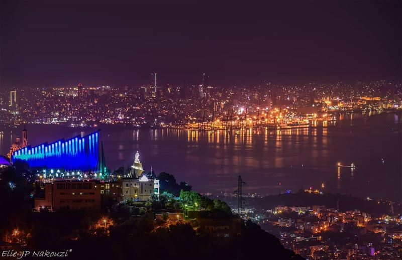 Blessed beyond measures nikon  night  photography  beirut  harissa ... (Ghosta, Mont-Liban, Lebanon)