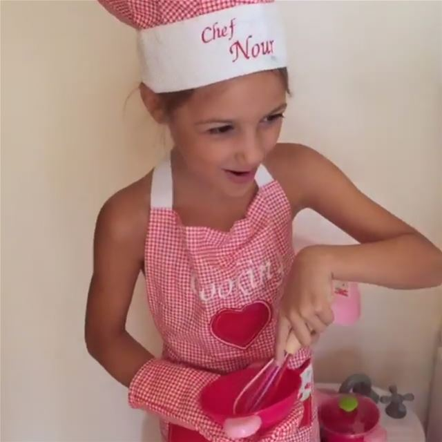 Cooking ❤️ Meet our top chef 👩🏻‍🍳 Write it on fabric by nid d'abeille ...