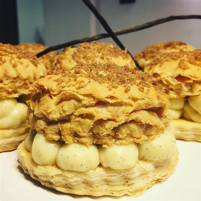 Calm Down And Have A Mille-Feuille. patzeesbakes  patzee  millefeuille ... (Beirut, Lebanon)