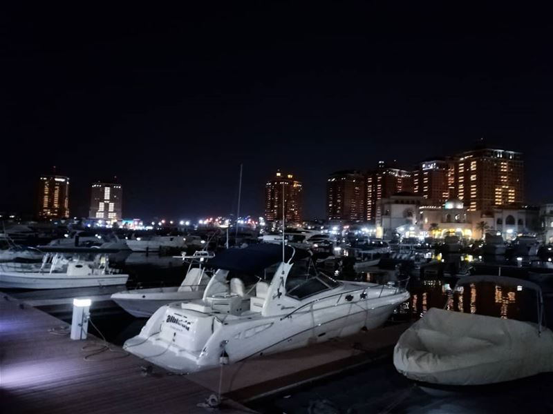nightview  qatarlife  qatarnightlife  beatifulweather  amzingview ... (The Pearl Qatar)