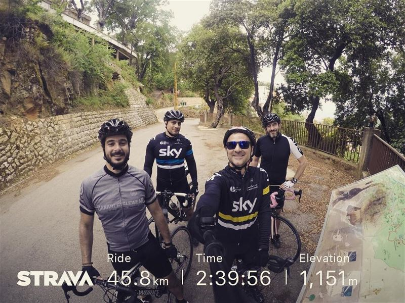 Today's ride🚴🏼‍♂️🌤🗻  cycling  cycle  cyclist  cyclingphotos  cycling ... (Arsoûn, Mont-Liban, Lebanon)
