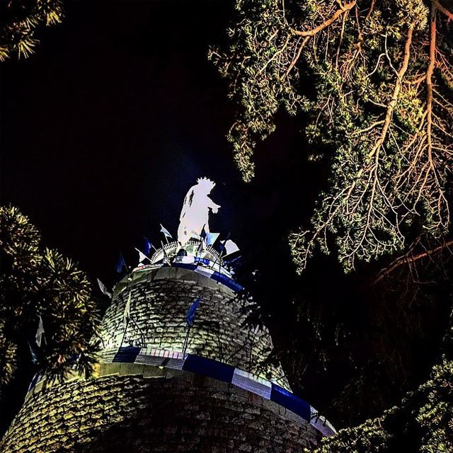 ~AVE MARIA~ ✨___________________ night  post  mothermary  holy  month ... (Our Lady of Lebanon)