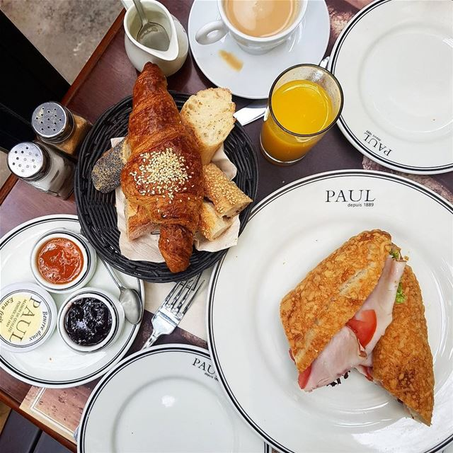 Good Morning 🥐☕️... beirut  lebanon  breakfast  brunch ... (Paul Gemayzeh)