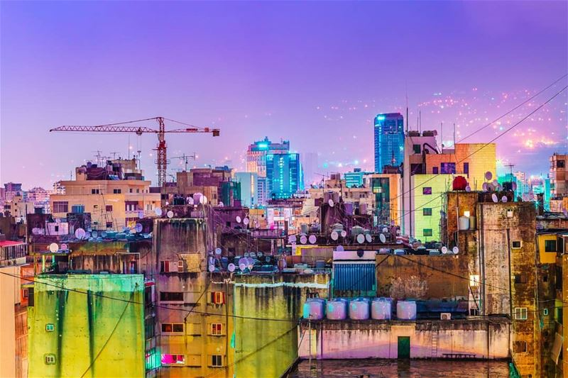 beirut  city  cityscape  night  light  lights  building  rain  colors ... (Beirut, Lebanon)