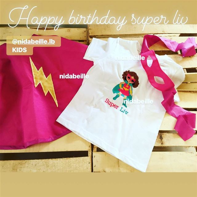 SuperLIV 🎂Happy birthday 💞Write it on fabric by nid d'abeille  costume ...