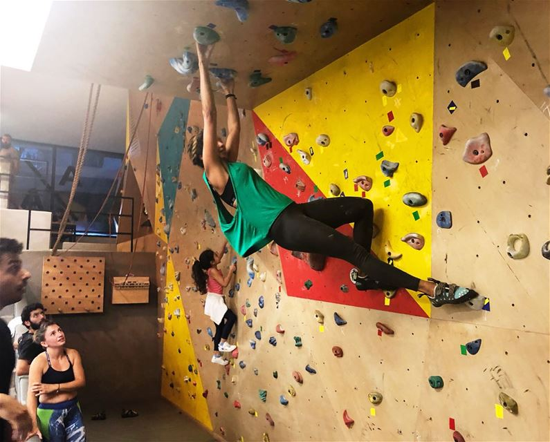 Come climb indoor tonight Open class 7pm @aabeirut Reserve your spot... (Athletes Anonymous)