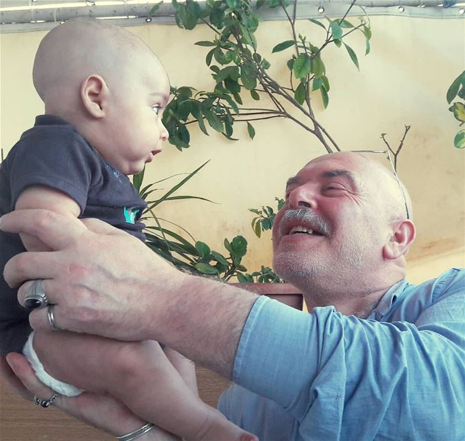 Father &  nephew  Family  Love  LiveLoveFamily  Laugh  Angel  Dad ... (Tripoli, Lebanon)