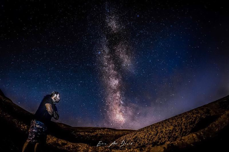 The wait is over 😁  milkyway  night  stars  sky  astrophotography ... (Kfardebian,Mount Lebanon,Lebanon)