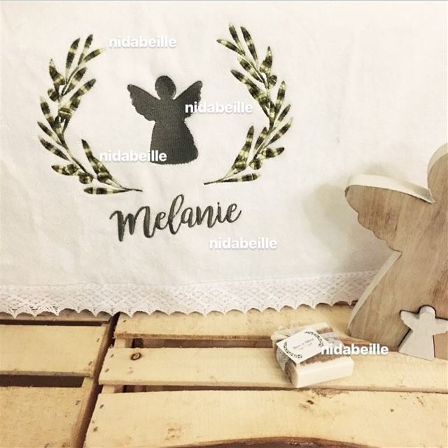 Feeling Blessed 😇Happy Christening Melanie 🌿Write it on fabric by nid d'a