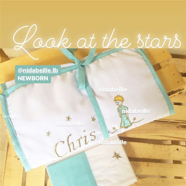 Sweet dreams baby Chris ✨bed set le petit prince ☁️Write it on fabric by...