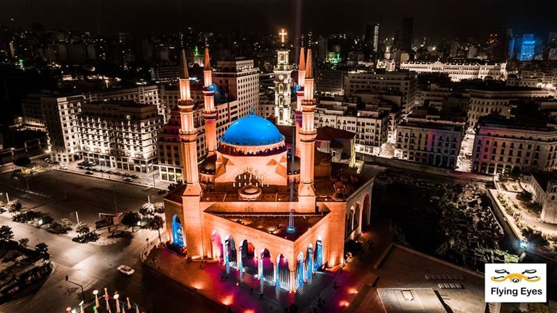 God bless our lovely beloved Beirut🔴⚪⚪🌲⚪⚪🔴... (Downtown Beirut)