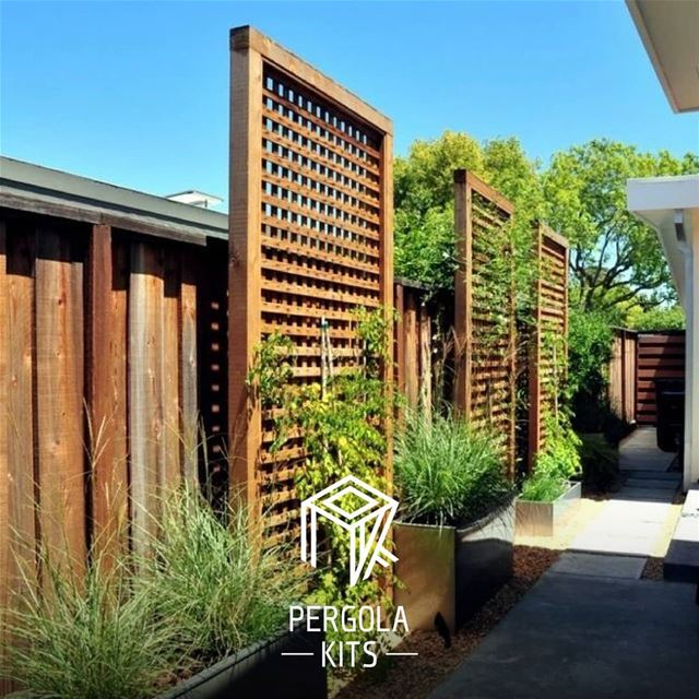 New From Pergola Kits: Lattice Privacy Wall!Customize your Own Wall & Get...
