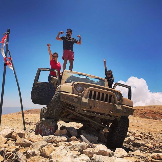 The highest tire in Levant  3088m... livelovelebanon livelovebeirut... (Qurnat as Sawda')
