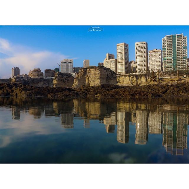 beirut  reflection  waterreflection  alrawche  rawshe  beautifullebanon ...