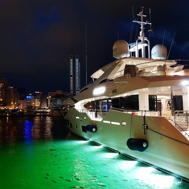 beirut  lebanon  yacht  bay  beyrouth  night  nightlights  yachting ... (Zaitunay Bay)