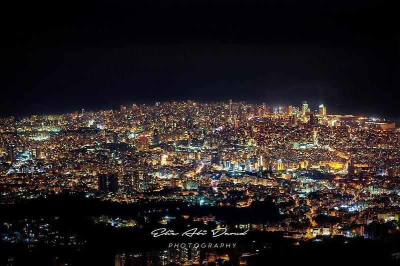 My view is better than yours 🌃 😍  city  citylights  perspective ... (Beirut, Lebanon)
