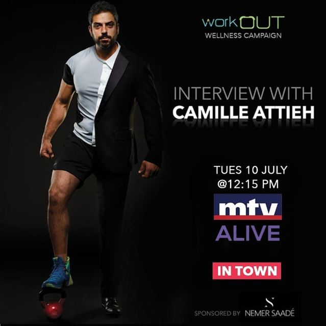 Stay tuned! @camilleattieh will be on @mtvlebanon to discuss workOUT... (MTV Lebanon)