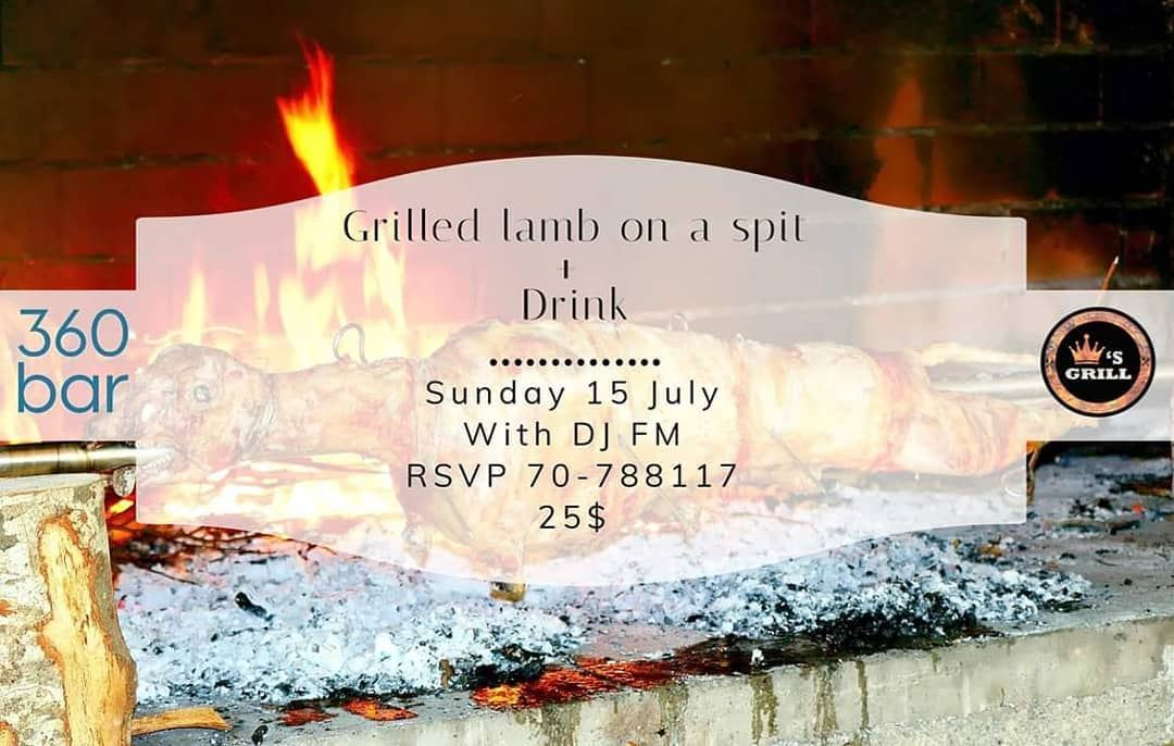 @360_poolbar   Sunday 15 July  Grilled Lamb on a spit @marinadelsolresort ... (360 Bar)