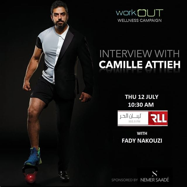 Stay tuned! @camilleattieh will be on RLL to discuss workOUT wellness... (Rll Adonis - Radio Liban Libre)