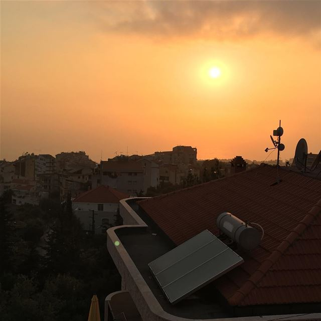 Sunset view from my house  Beirut Lebanon nature sunset instagood ...