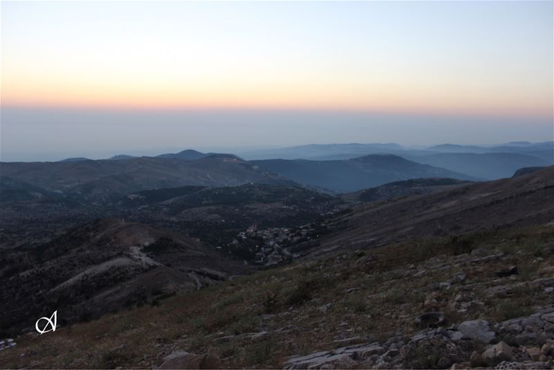 enjoying the scenery from the top of the highest hill at jezzine district ( (Jezzîne, Al Janub, Lebanon)